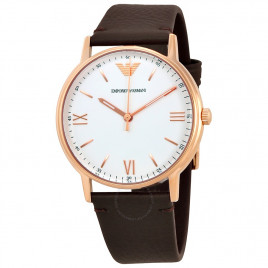 安普里奥 阿玛尼 Emporio Armani Rose Gold Watch with Brown Strap 手表