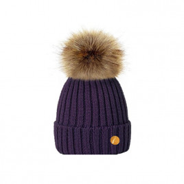 Hortons England  毛球帽 紫色 Hortons England Meribel PomPom Hat - Purple