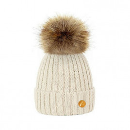 Hortons England  毛球帽 奶油色/淡黄色 Hortons England Meribel PomPom Hat - Cream