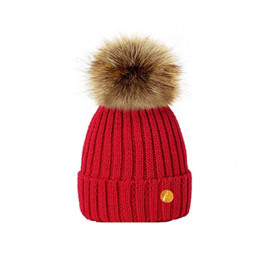 Hortons England  毛球帽 红色 Hortons England Meribel PomPom Hat - Red