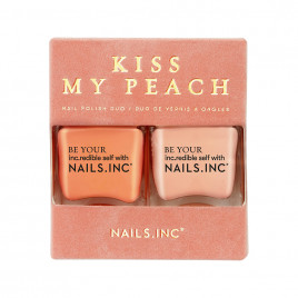 Nails Inc. Kiss 我的桃子指甲油套装 - 2 x 14ml