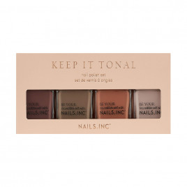 Nails Inc. Keep It Tonal Nail Polish Quad Set (4 x 14ml)