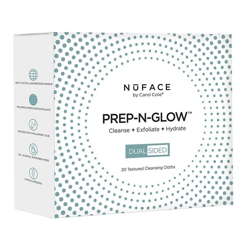 NuFACE - Prep-N-Glow Cleansing Cloths 20 Pack