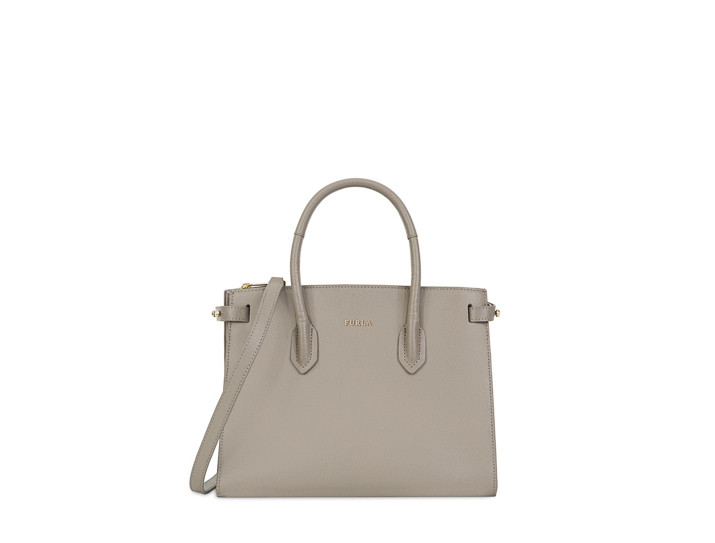 Furla 芙拉Pin Tote S East/West米黄色包包